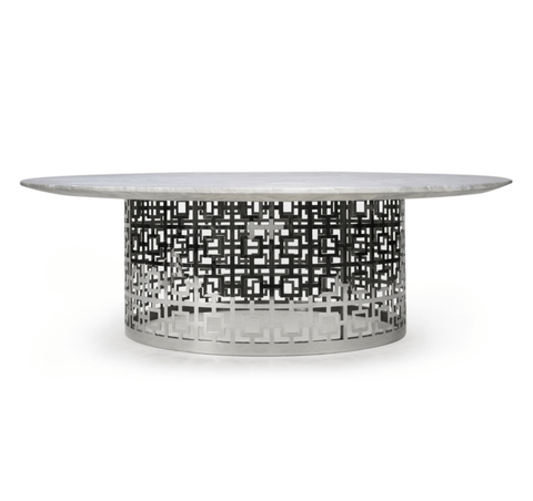 Jonathan Adler Nixon cocktail soffbord-Marmor/nickel - Interior 55