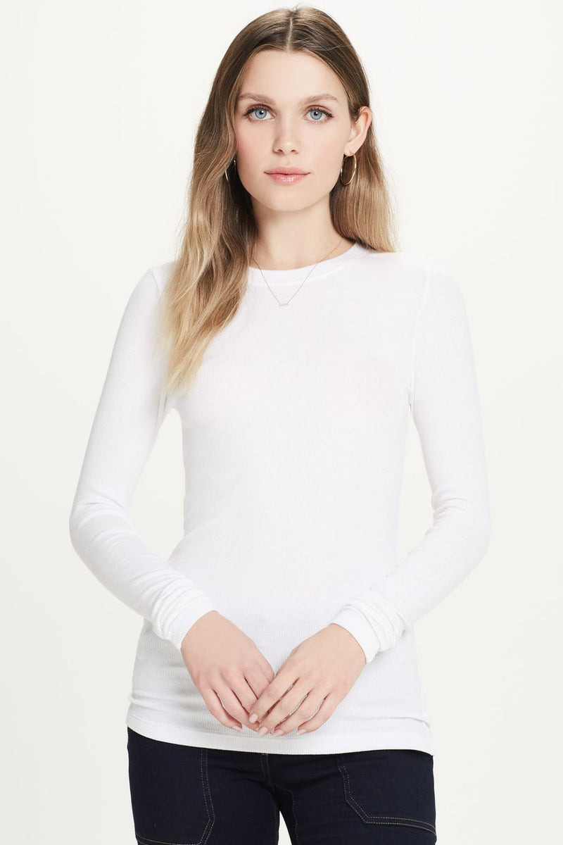 Ribbed Long Sleeve Tee - Goldie