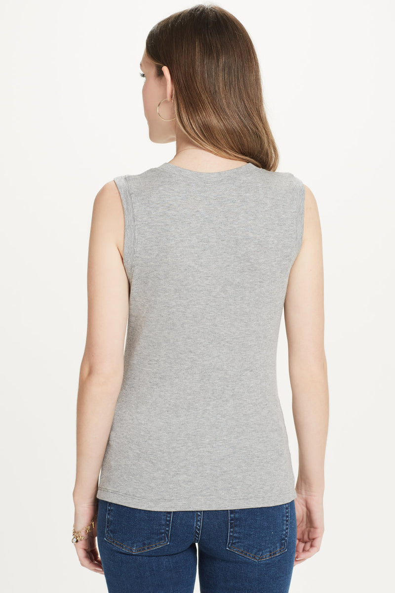 Ribbed Sleeveless Tee - Goldie