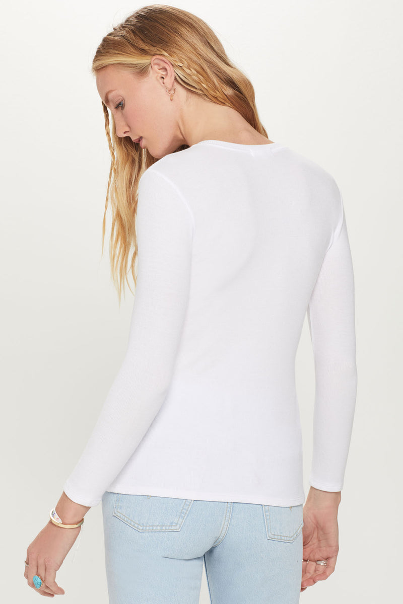 Ribbed Henley Top - Goldie