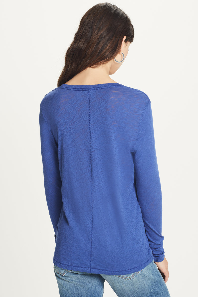 Signature Slub Long Sleeve V Neck Tee - Goldie