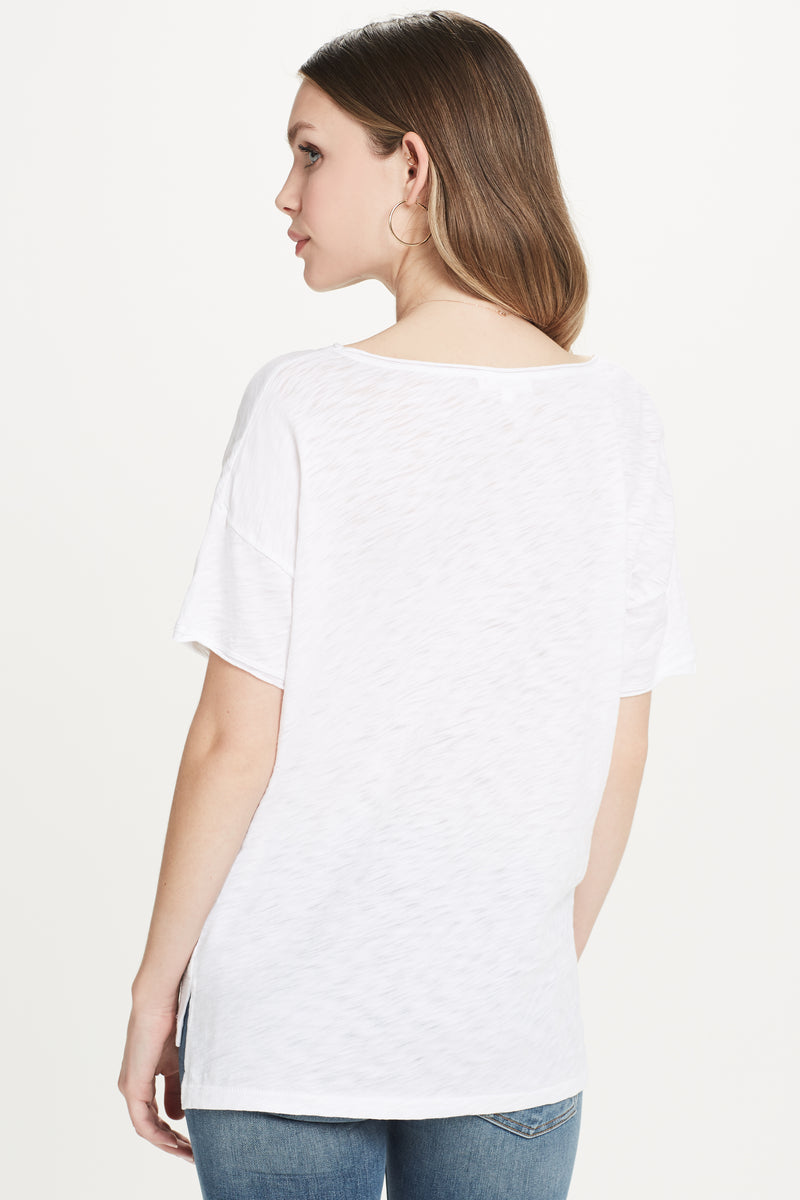 High Low Drop Shoulder Tee
