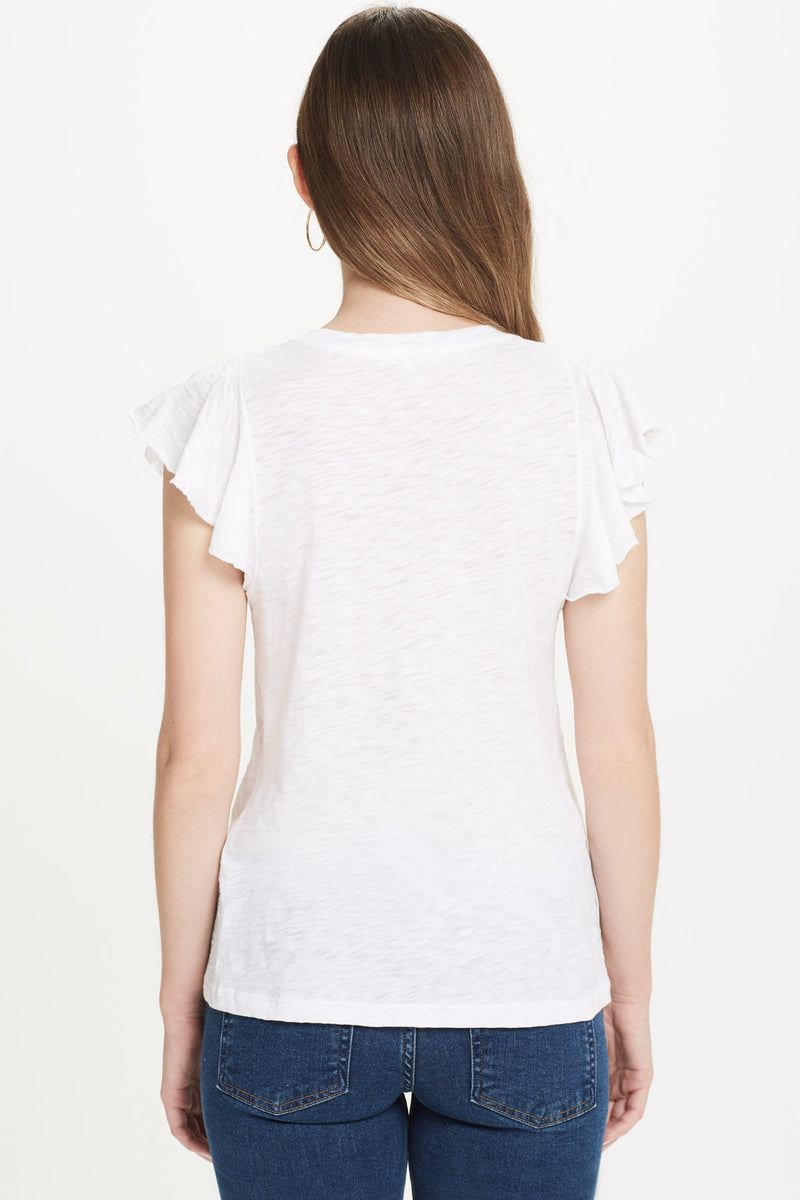 Sleeveless Ruffle Tee - Goldie