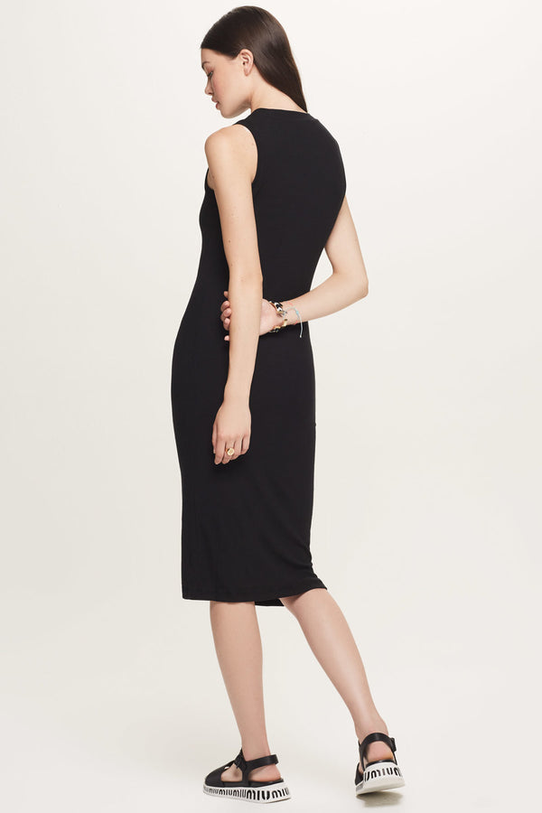 Ribbed Sleeveless Midi Dress