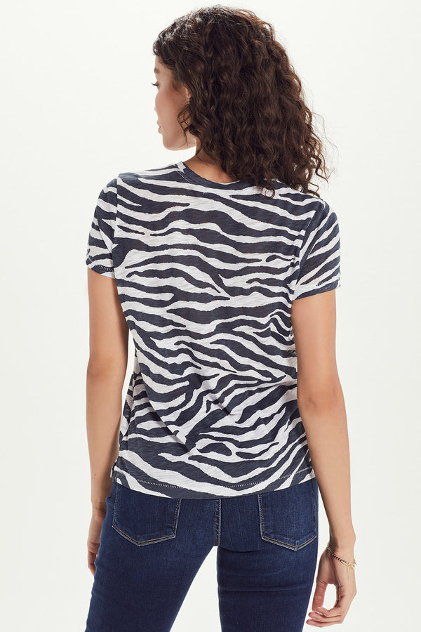 Zebra Stripe Boy Tee - Goldie