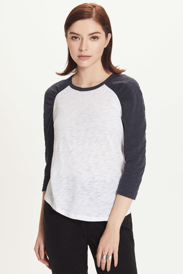 Ruched Baseball Tee