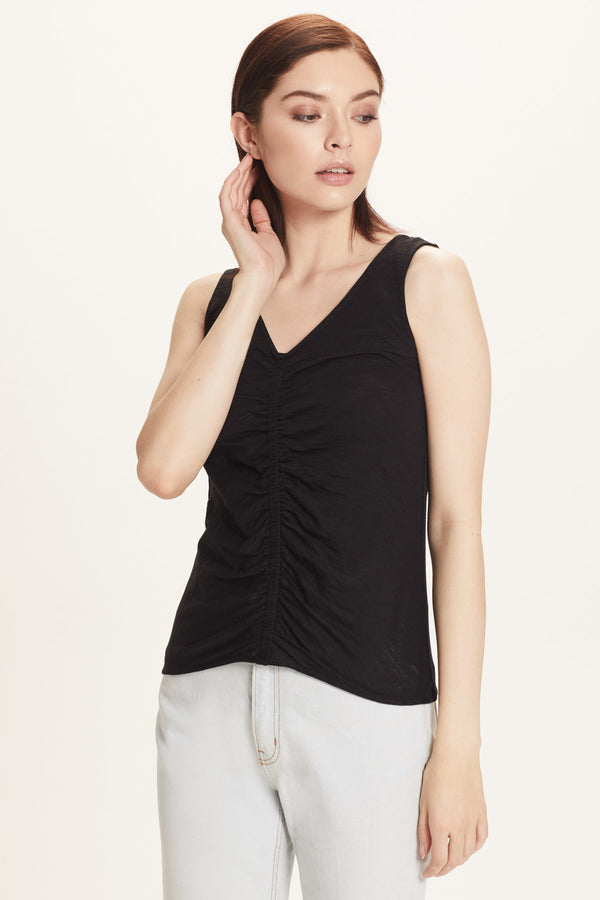 Ruched Tank - Goldie