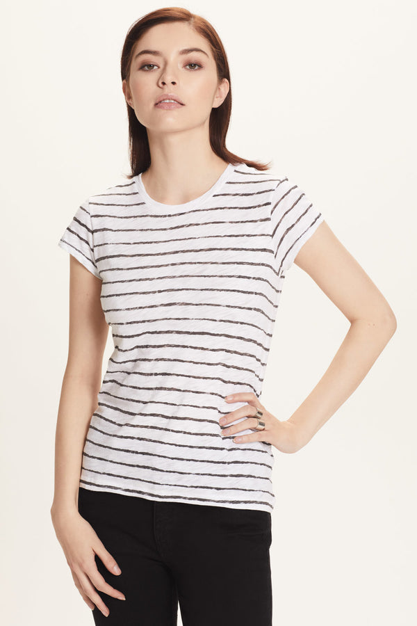 Wide Stripe Ringer Tee