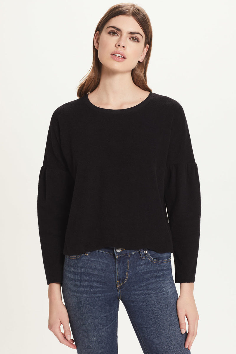 French Terry Drop Shoulder Sweatshirt - Goldie