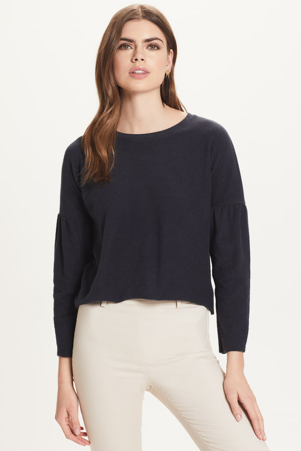 French Terry Drop Shoulder Sweatshirt