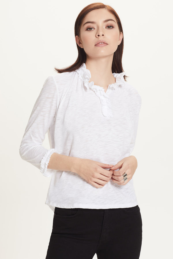 Ruffle Peasant Blouse - Goldie