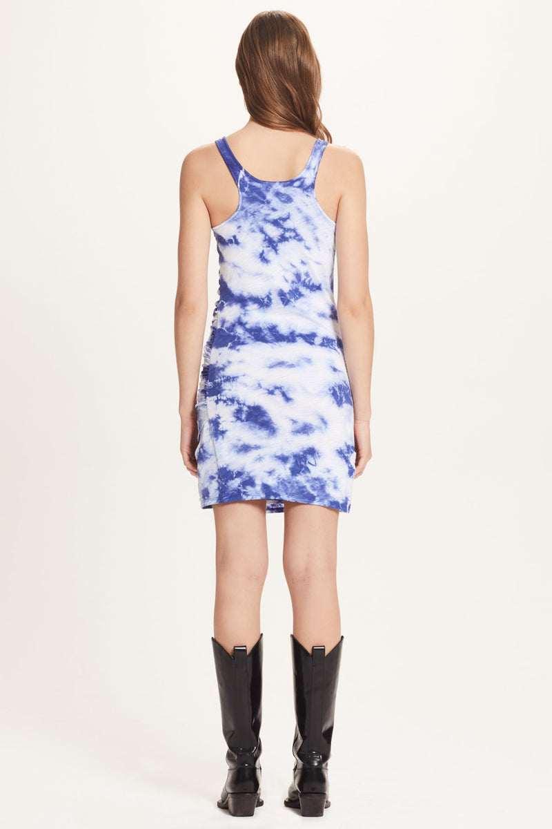 Tie Dye Ruched Dress