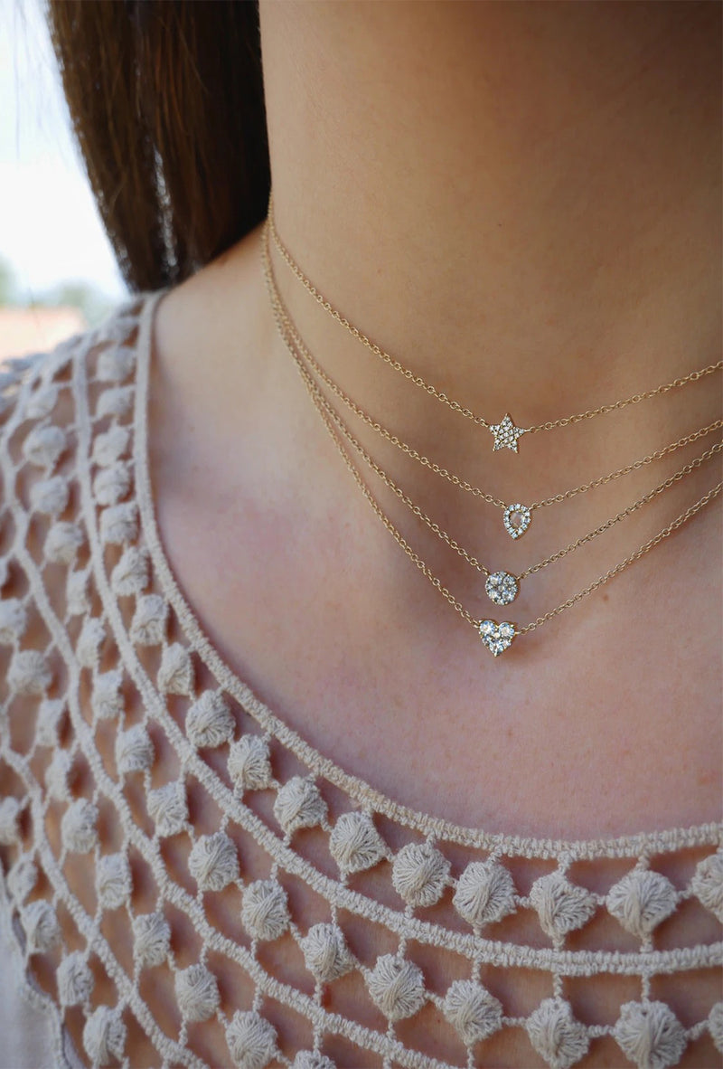 Diamond Star Choker Necklace - Goldie