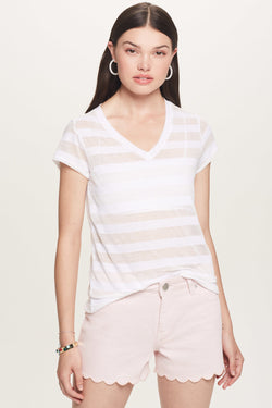 Shadow Stripe Classic V Tee - Goldie