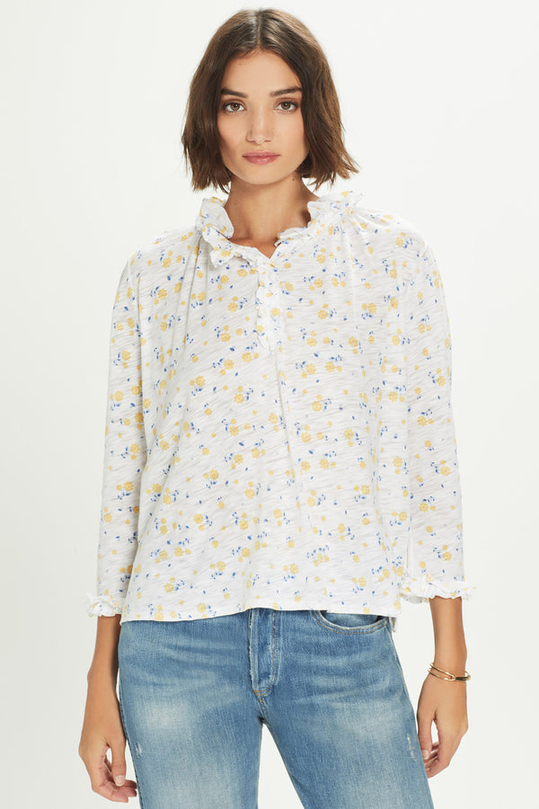Ditsy Floral Peasant Blouse