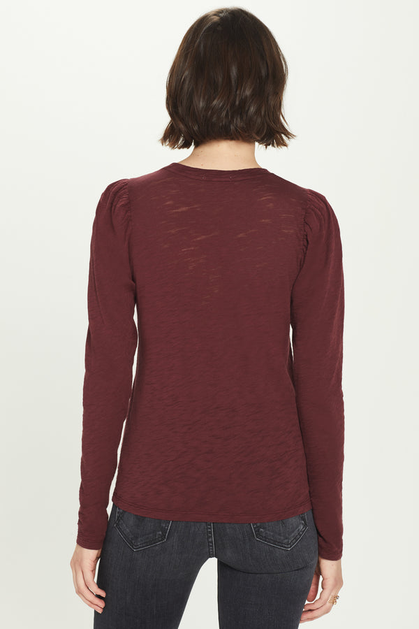 Long Sleeve Puff Shoulder Tee - Goldie