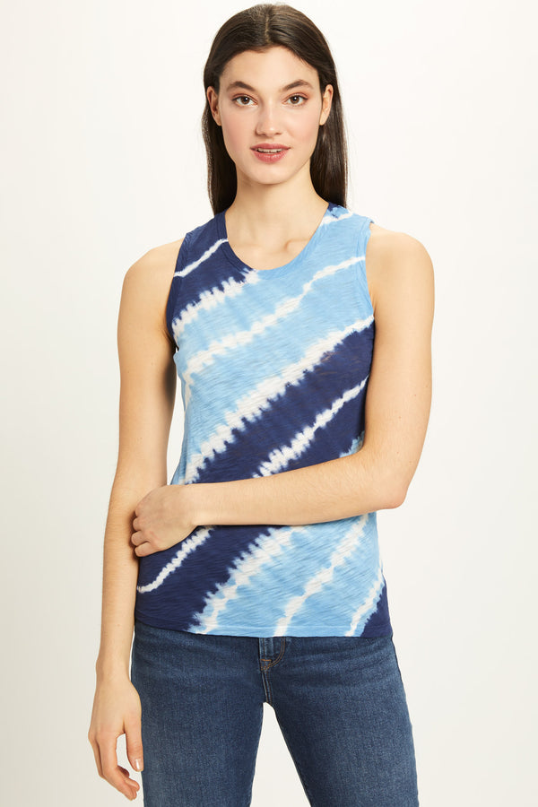 Cloud Tie Dye Tank - Goldie