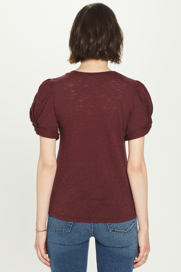 Mutton Sleeve Knot Tee - Goldie