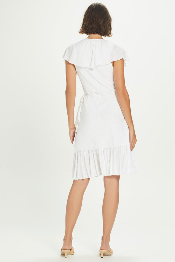 Flamenco Ruffle Wrap Dress
