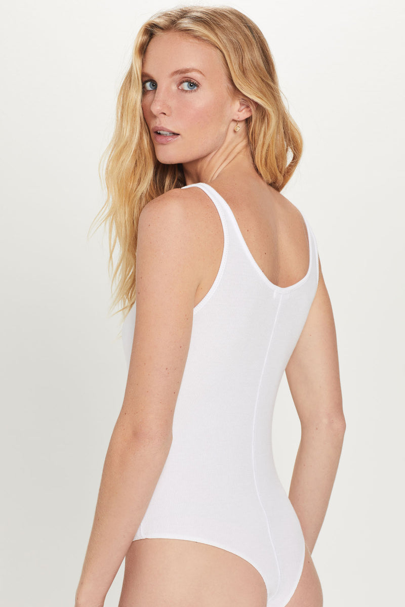 Ribbed Tank Bodysuit - Goldie