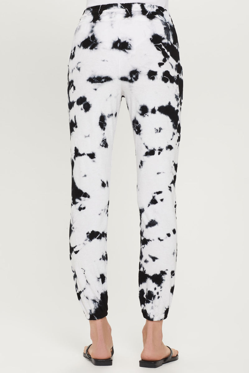 High Rise Tie Dye Micro Terry Sweatpant - Goldie