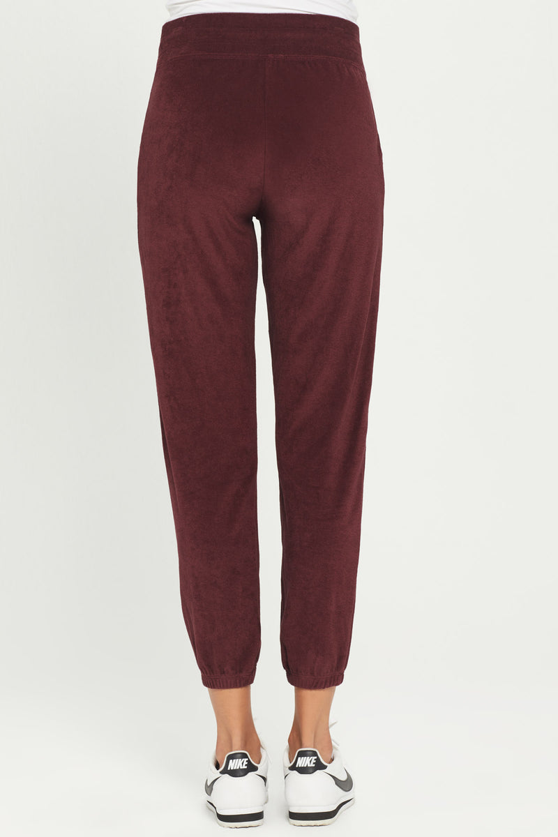 High Rise Micro Terry Sweatpant - Goldie