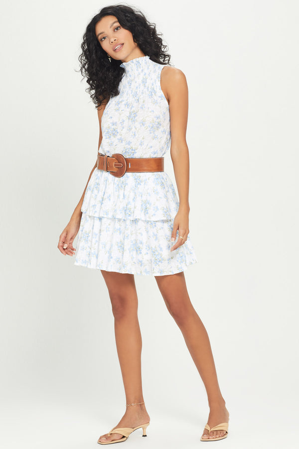 Forget Me Not Ruffle Mini Skirt - Goldie