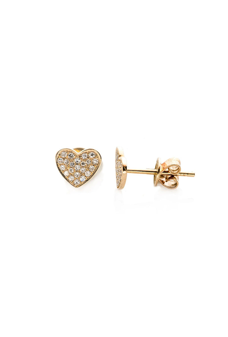 Diamond Heart Stud Earring - Goldie