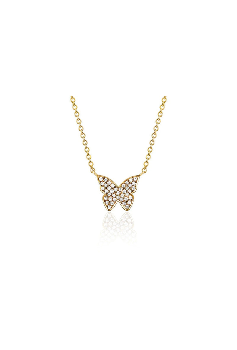 Diamond Butterfly Necklace - Goldie