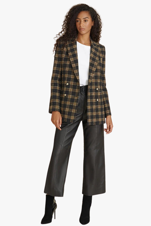 Oria Plaid Dickey Jacket - Goldie