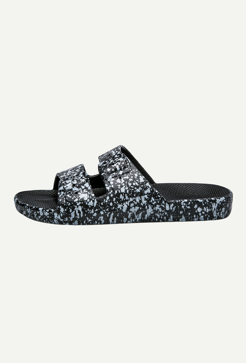 Black Splatter Slides - Goldie