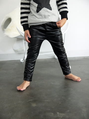 ROCK-star faux leather pants