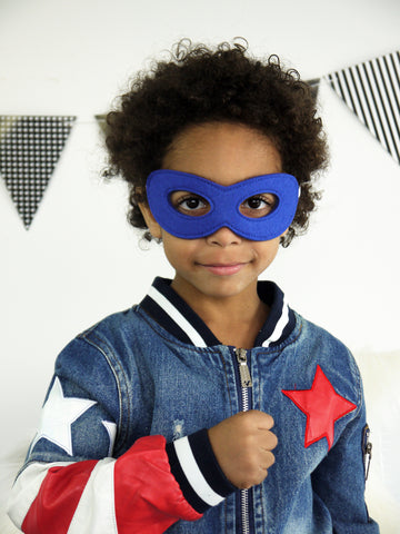 Super Hero Mask in BLUE
