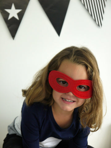 Super Hero Mask in RED