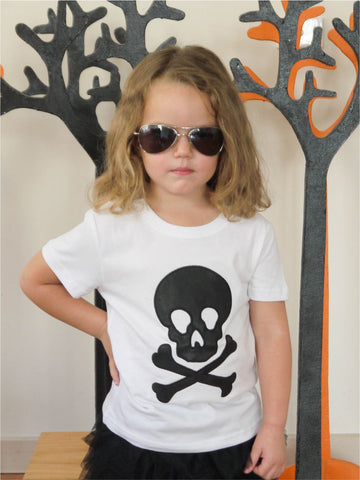 Skull Mad Tee in White