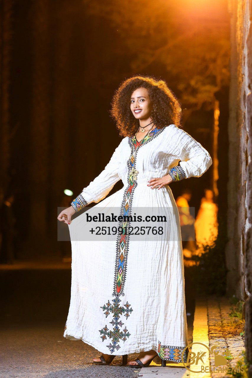 Teame Bisrat Design - Ethiobella Ethiopian Traditional Dresses