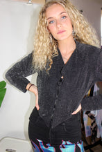 Load image into Gallery viewer, VTG 80's FREDRICKS LONG SLEEVE SPARKLY TOP