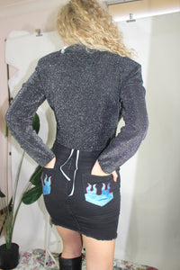 VTG 80's FREDRICKS LONG SLEEVE SPARKLY TOP