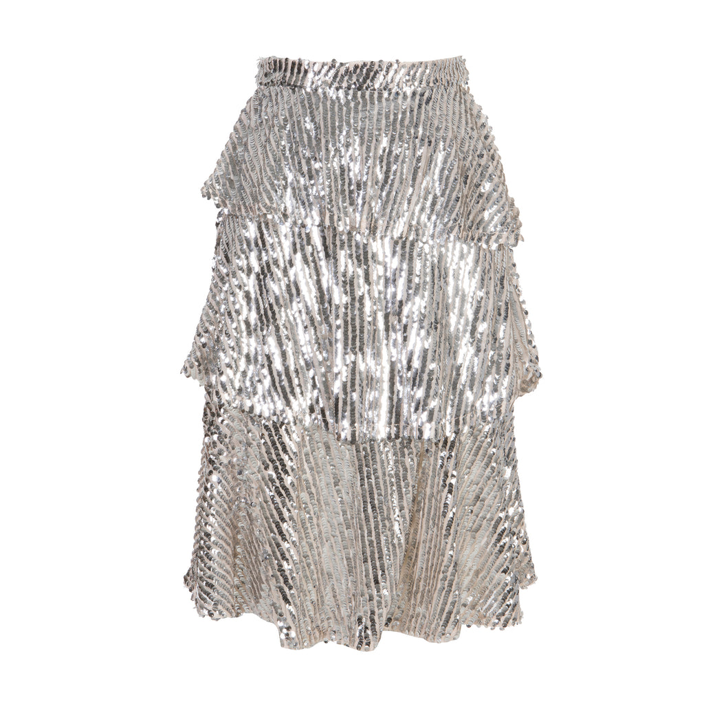 First Impressions Sequinned Skirt Silver