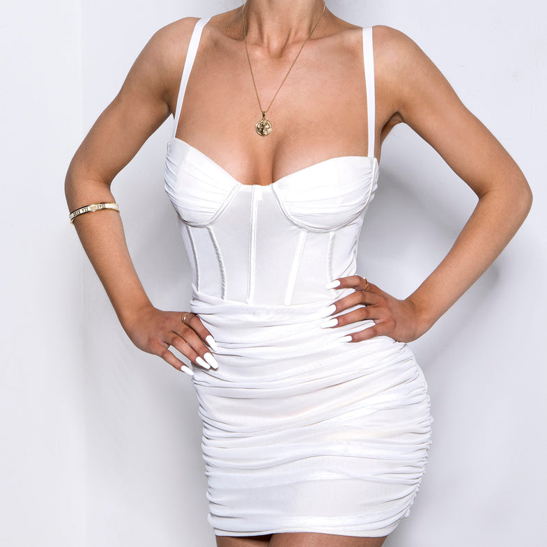 Luxe Life Mesh Dress Cream