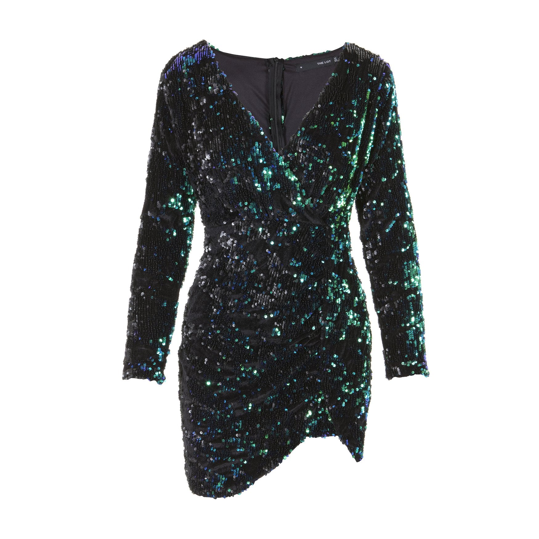Disco's To Show Sequin Dress Green