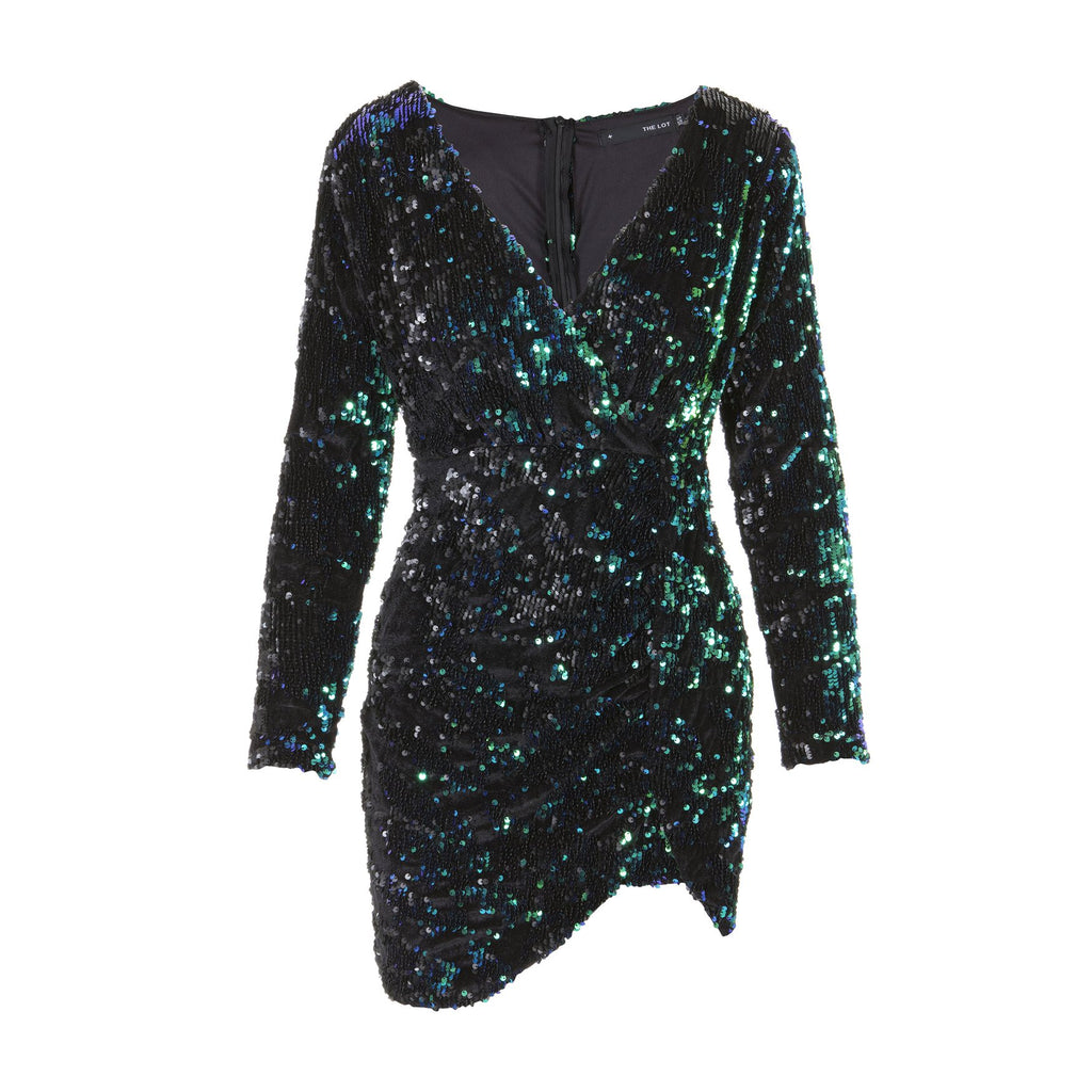 Disco's To Show Sequin Green Dress