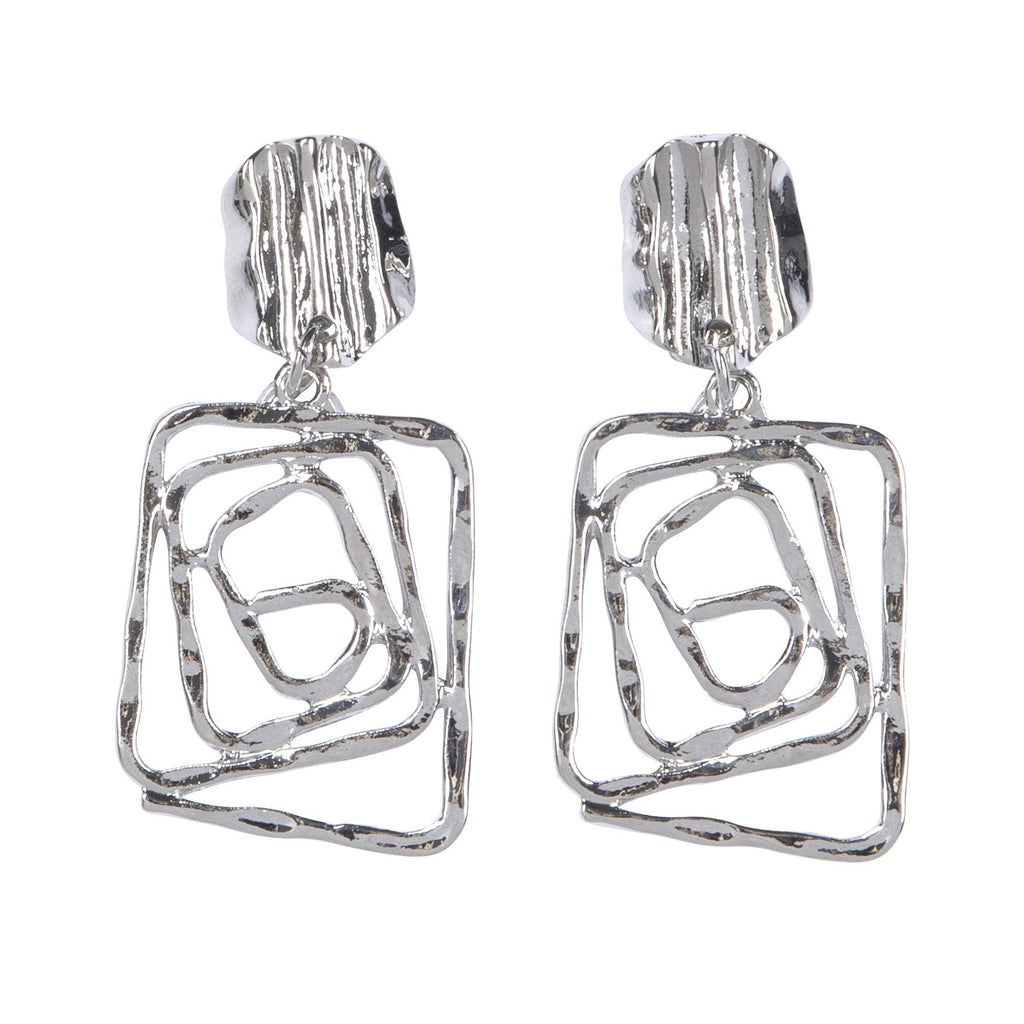 Lost In Space Earrings Silver