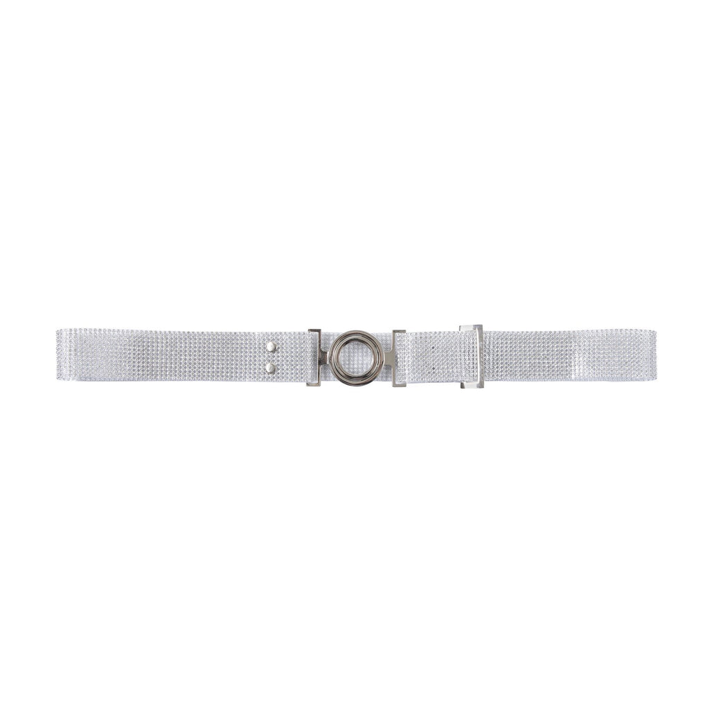 Monaco Crystal Circle Belt Silver