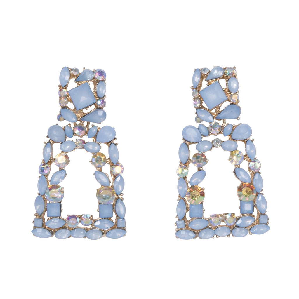 Monte Carlo Crystal Earrings Blue