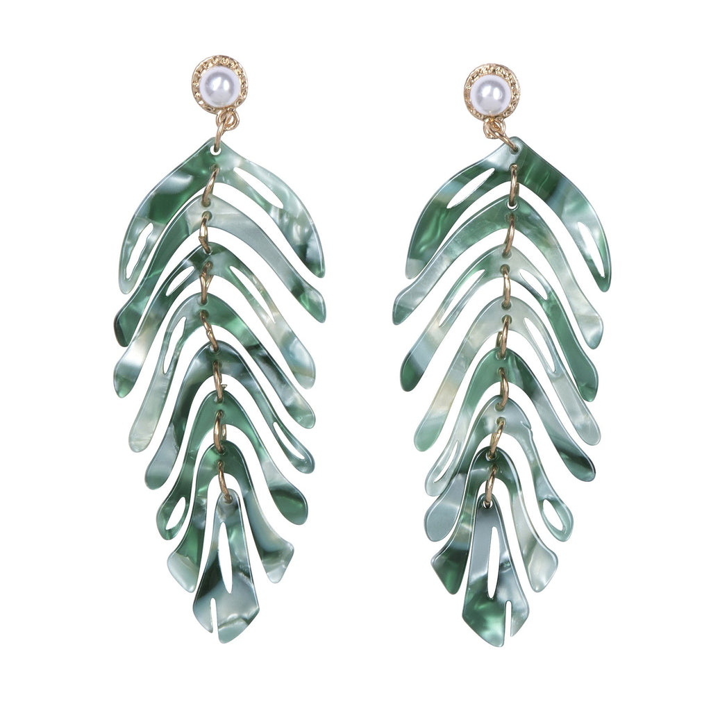 Mykonos Earrings Green