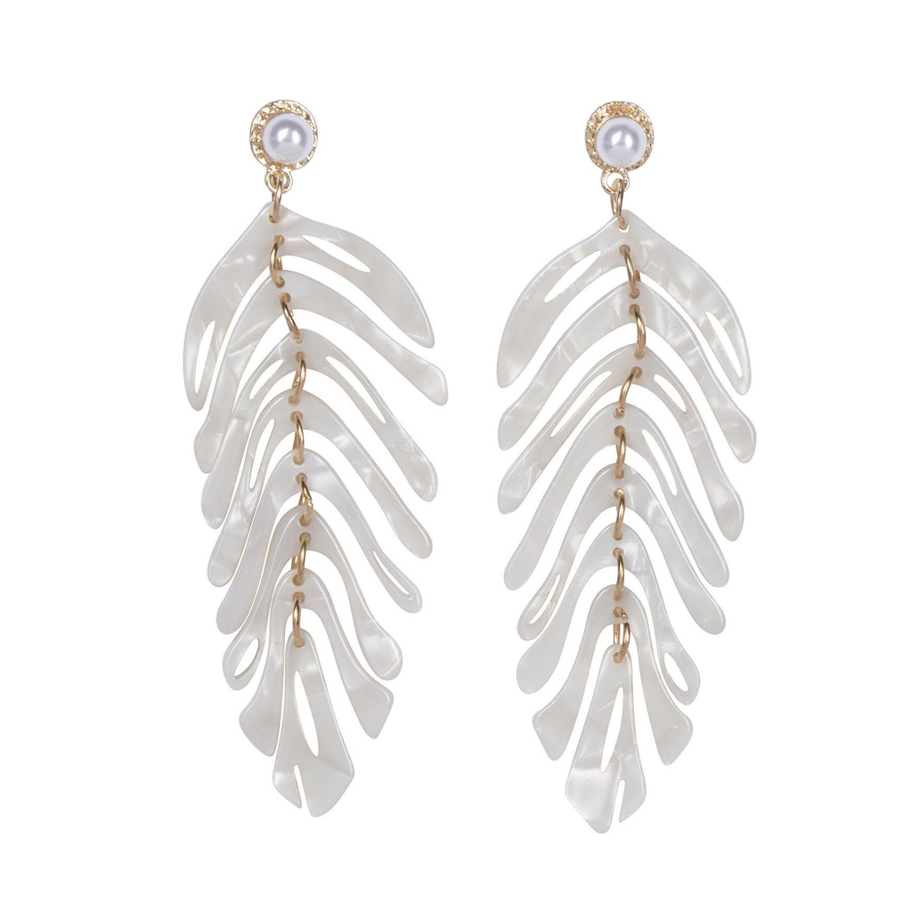 Mykonos Earrings White
