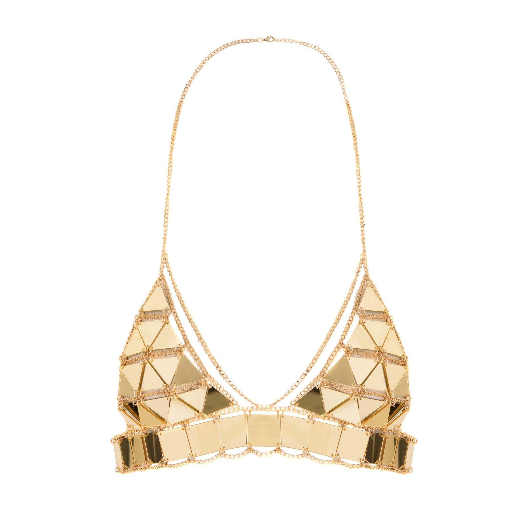 Piece It Together Bralet Gold