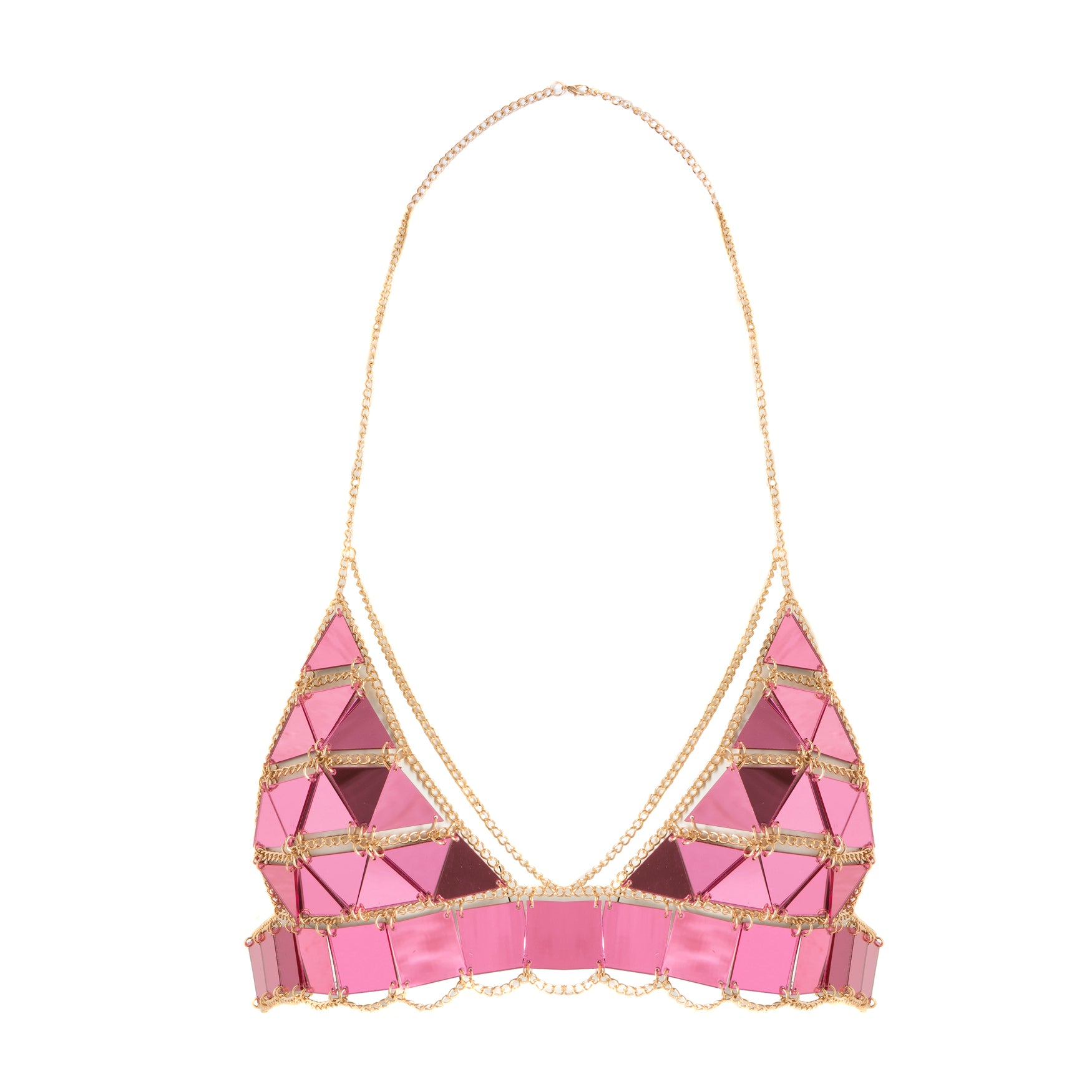 Piece It Together Bralet Pink