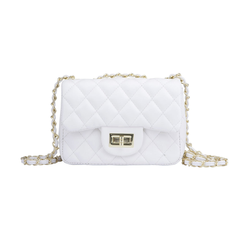 Quit It Quilted Handbag White